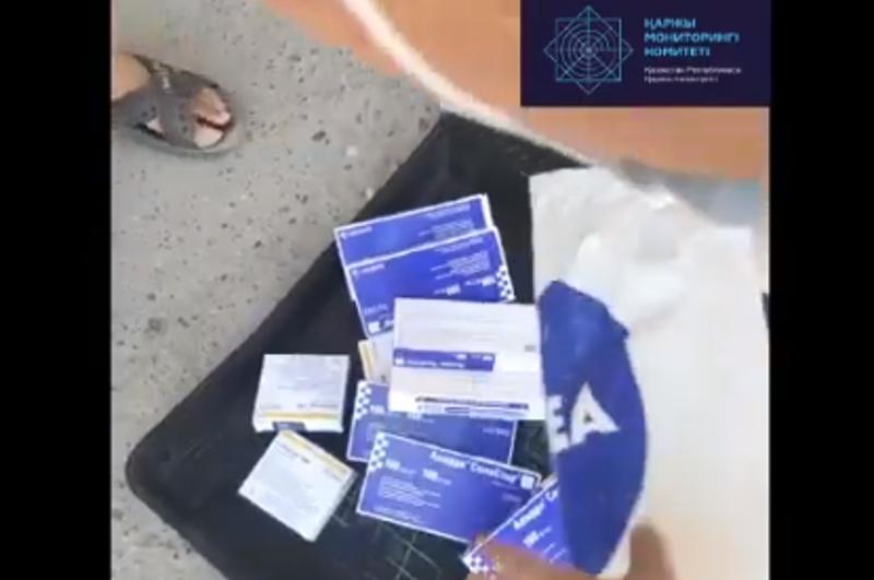 Шымкент тұрғыны халыққа тегін таратылуы тиіс дәрі-дәрмекті сатып келген