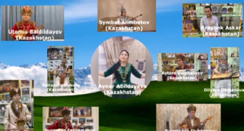 Музыканты стран тюркского мира поздравили Елбасы, исполнив произведение «Уш коныр»
