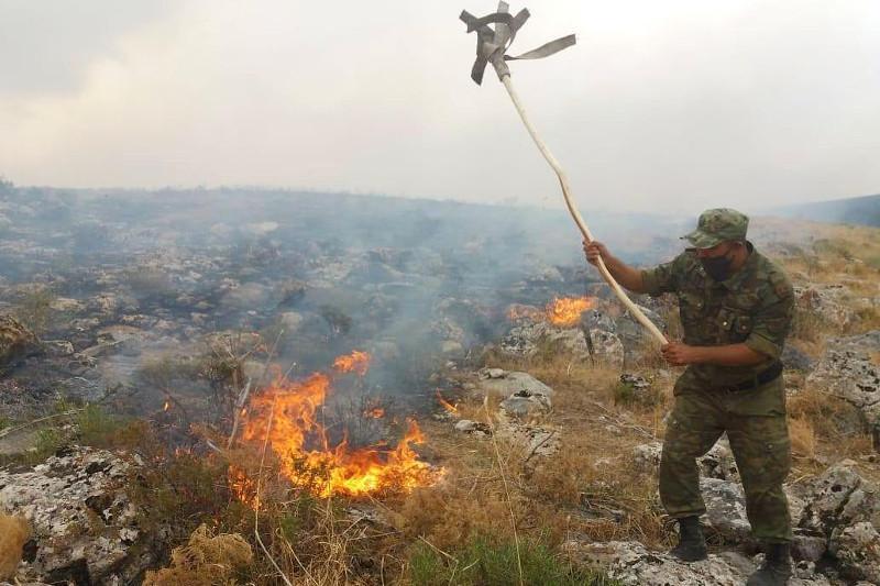 11 лесных и степных пожаров произошло за сутки в республике