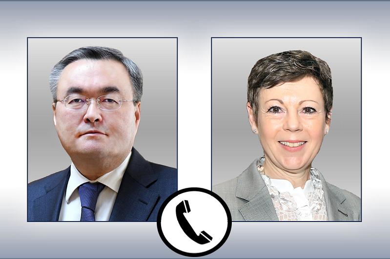 外长特列吾别尔德与瑞士外交部国务秘书通电话