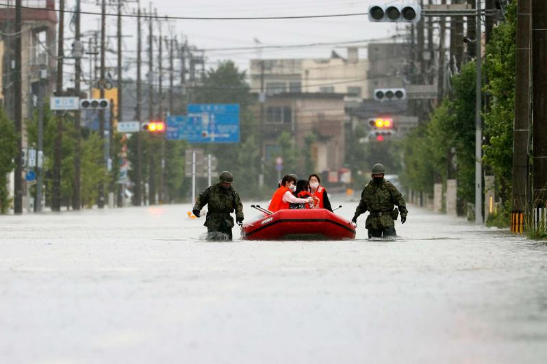 Recovery efforts continue in southwest Japan 1 week after heavy rain
