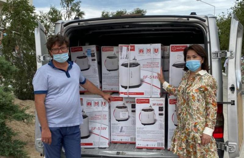 В Мангистаускую область из России прибыли 45 кислородных концентраторов