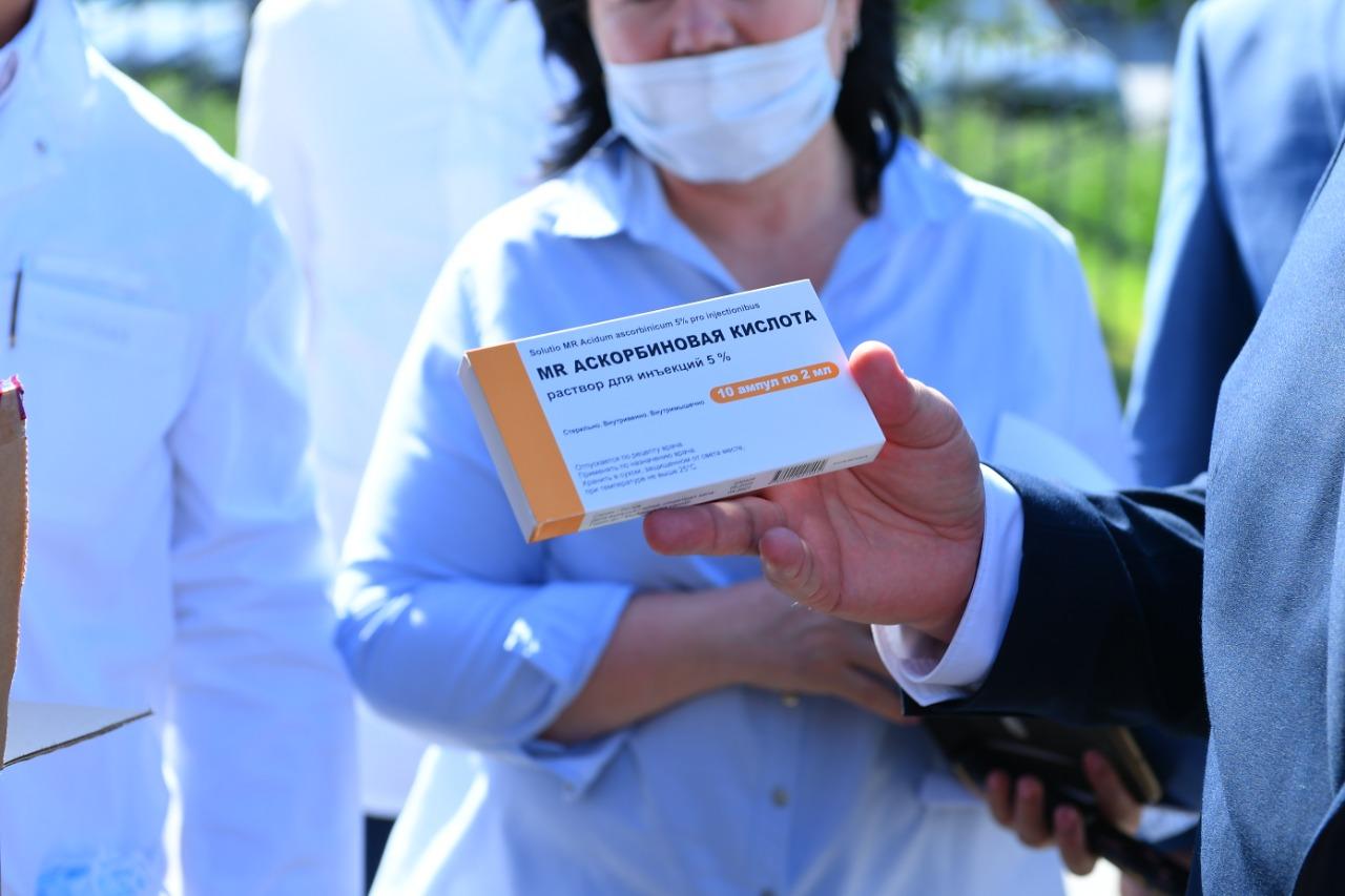 Необходимые лекарственные средства прибыли в Туркестан
