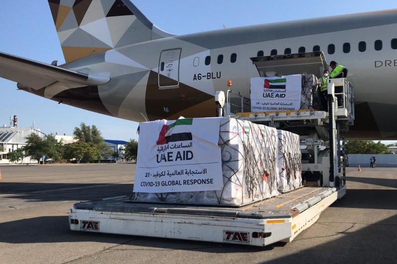 Mańǵystaýǵa Birikken Arab Ámirlikterinen 7,5 tonna gýmanıtarlyq kómek keldi