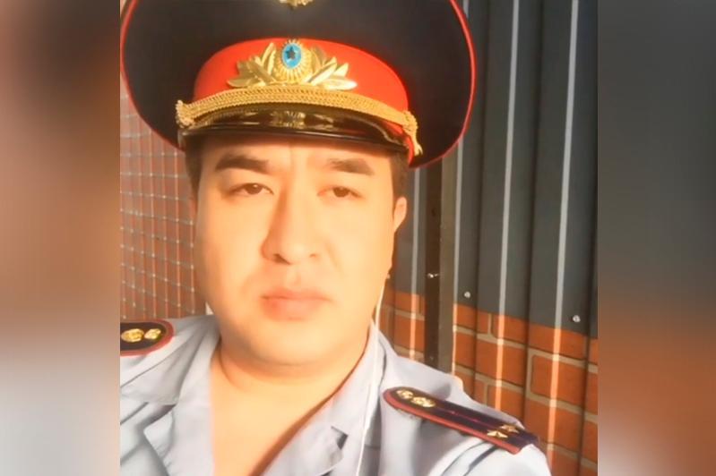 На вайн певца в полицейской форме отреагировала полиция Алматы