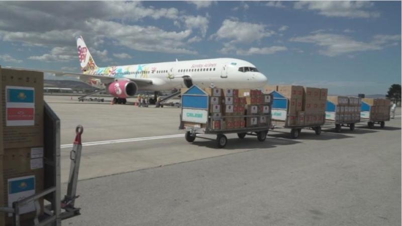 11 тонн гуманитарной помощи получил Казахстан от Турции
