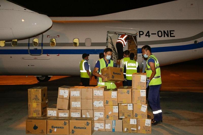 Atyrau receives medical cargo of COVID-19 medical supplies