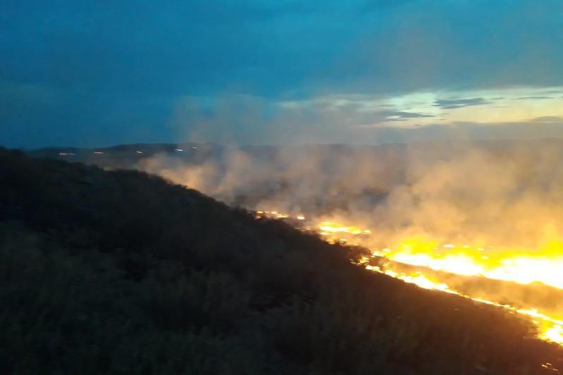 16 степных пожаров произошли в Карагандинской области за выходные