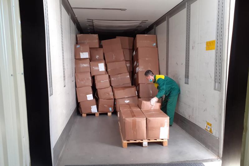 乌兹别克斯坦和俄罗斯提供的人道主义援助物资抵达阿克托别