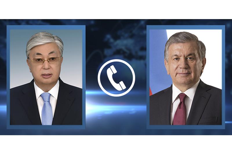 Касым-Жомарт Токаев поздравил Президента Узбекистана с днем рождения