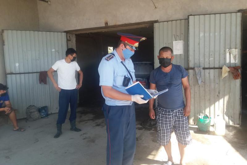 124 жителя Мактаарала наказаны за нарушение режима карантина