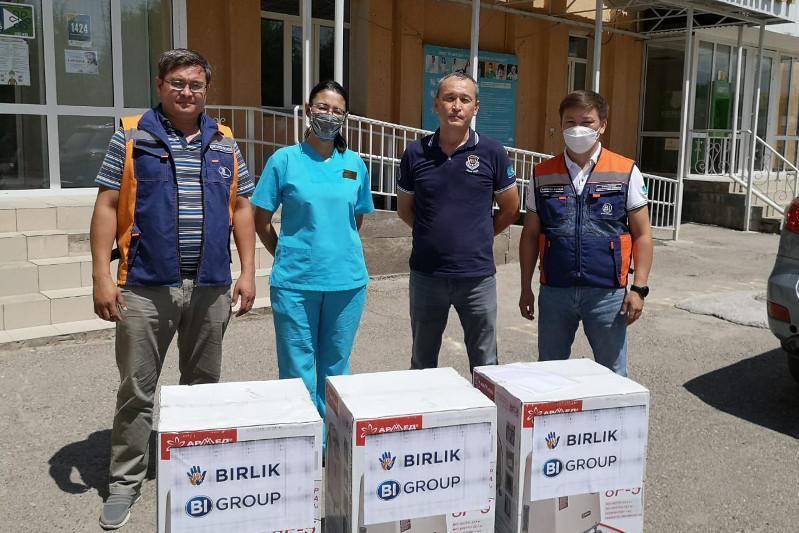 Толебийским больницам передали 16 кислородных концентраторов