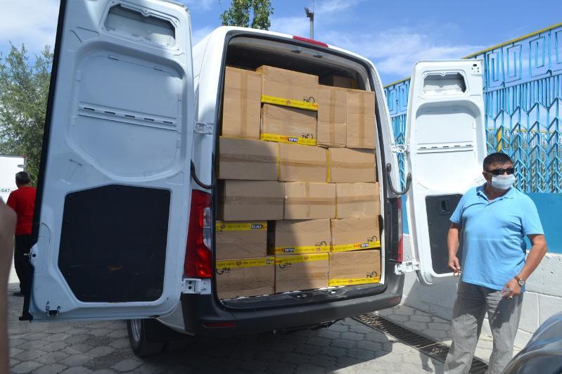 Гуманитарную помощь из ОАЭ доставили  в Туркестанскую область
