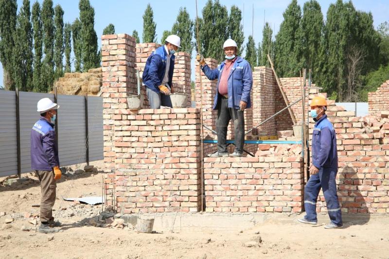 Волонтеры помогают в строительстве домов для нуждающихся семей в Жамбылской области