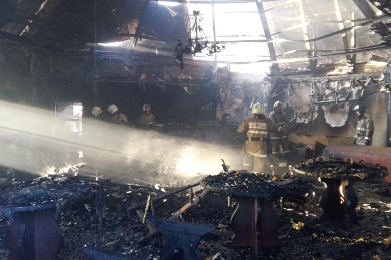 Ресторан сгорел на базе отдыха в Актау