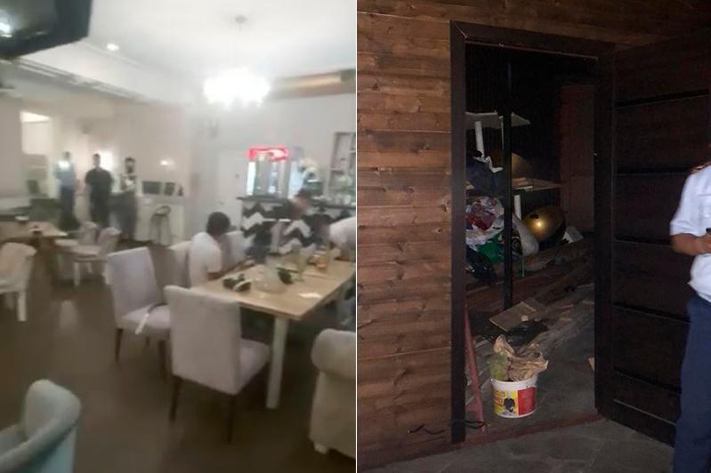 Ресторан ночью принимал гостей в Алматы