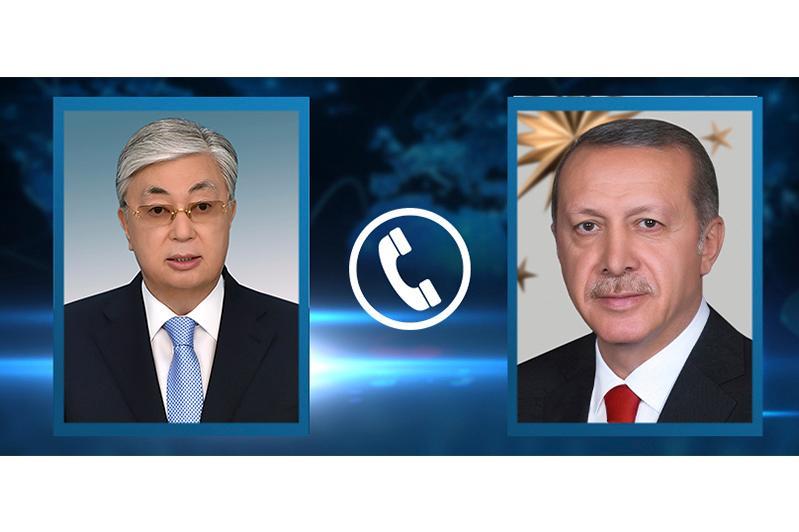 Kassym-Jomart Tokayev, Recep Tayyip Erdoğan hold telephone conversation