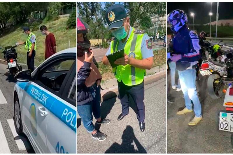 56 мотоциклистов оштрафовали за сутки в Алматы