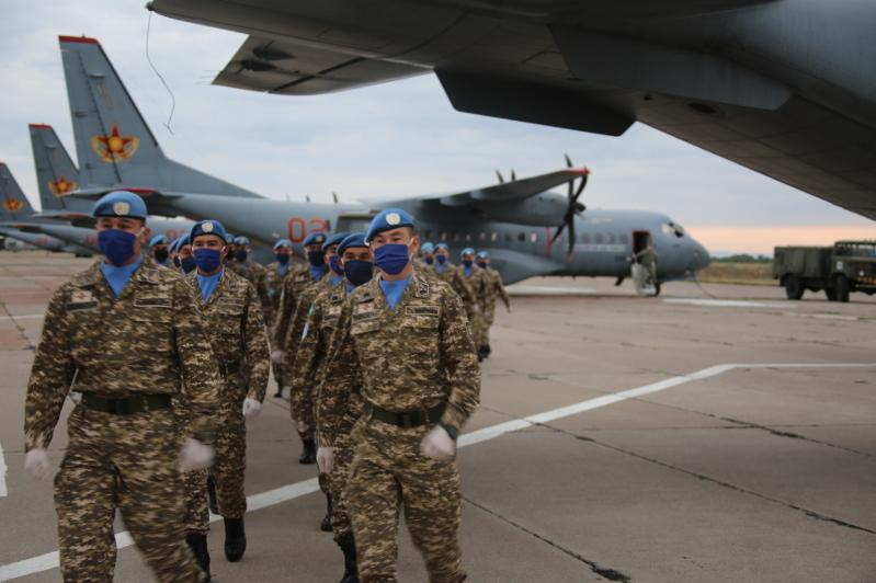 Третья миротворческая рота вернулась в Казахстан из Ливана