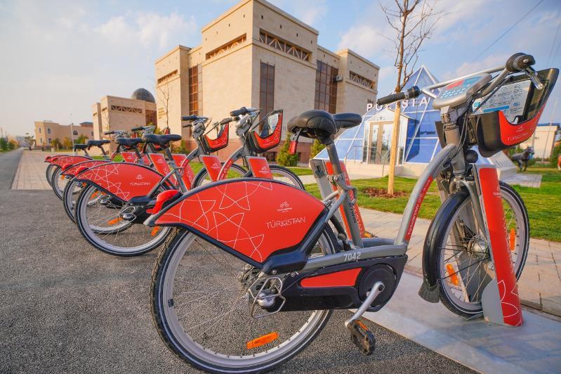 Túrkistanda «Turkistan bike» stantsııalary qaıta iske qosyldy