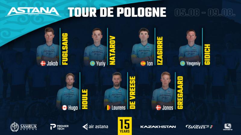 Велокоманда «Астана» назвала состав на «Тур Польши»