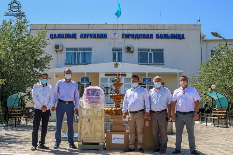 Қызылорда кәсіпкерлері ауруханаларға 39,7 млн теңгенің медициналық жабдықтарын табыстады