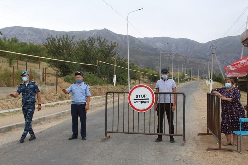 В зонах отдыха Толебийского района установлены блокпосты