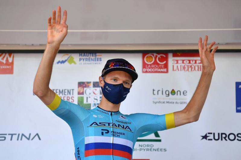 哈萨克斯坦自行车骑手在环奥西塔尼亚自行车赛中获得第三名