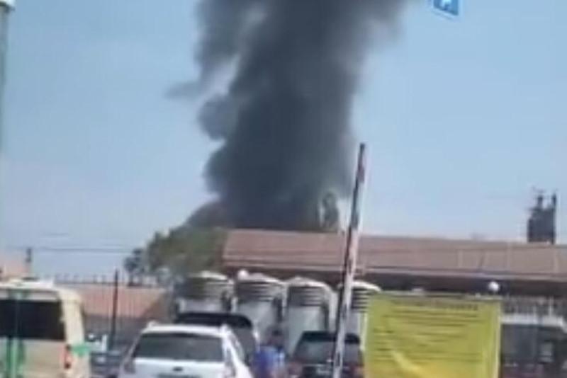 Пожар произошел в районе вокзала Алматы-1