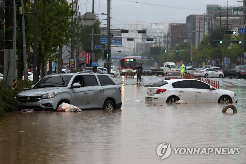 Death toll from heavy rains rises to 22 in S. Korea