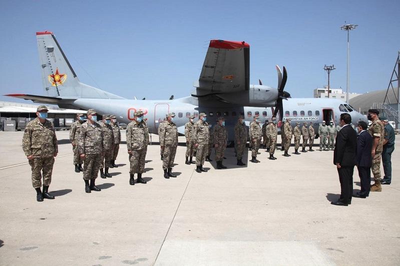 哈萨克斯坦派往黎巴嫩的医疗救援队抵达贝鲁特