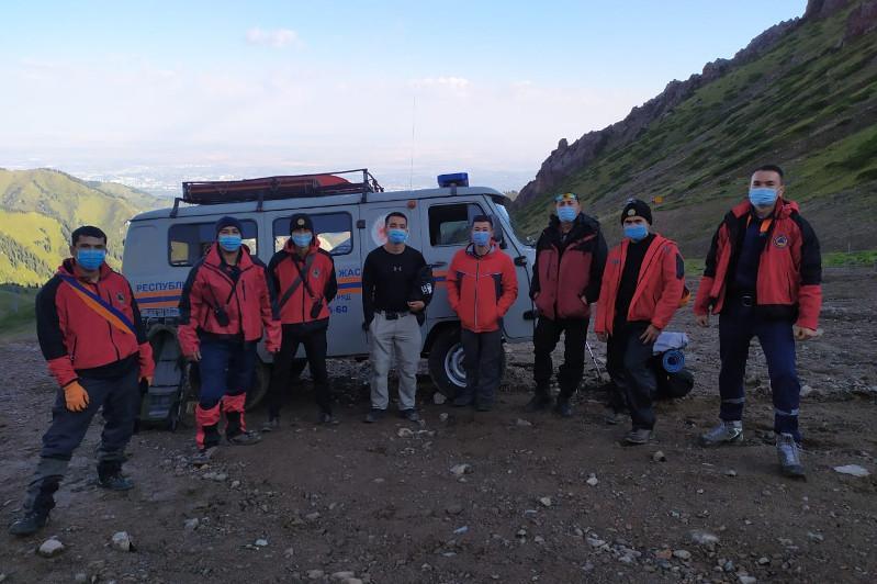 Алматы тауында  талмасы ұстаған жігіт құтқарылды