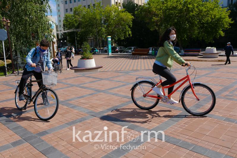 Карантин: Велосипедті пайдаланатын астаналықтар саны өскен
