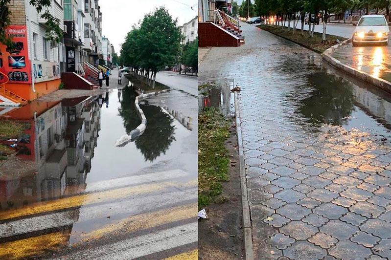 В каналы Венеции превратил ливень улицы Петропавловска