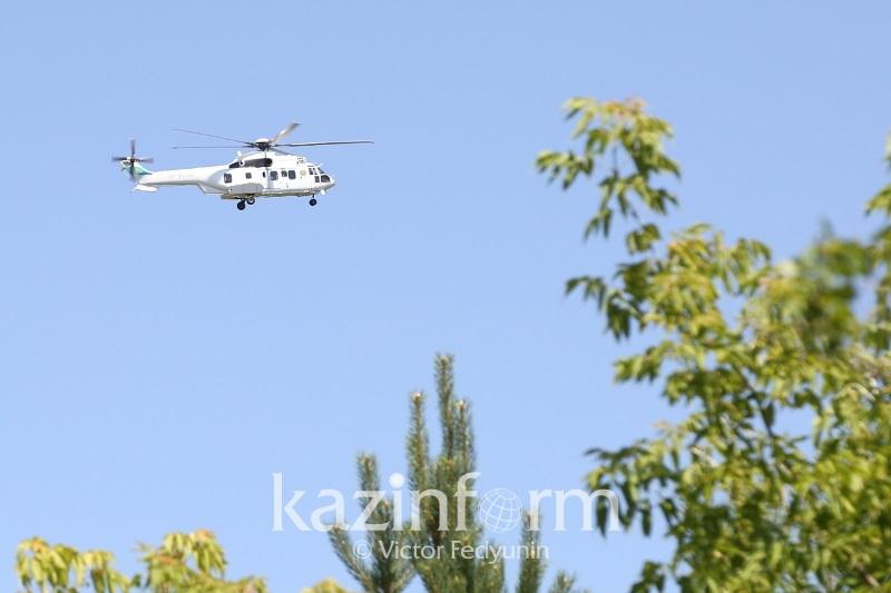 В Алматы полицейские возобновили патрулирование с вертолета