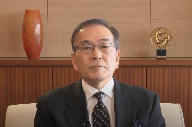 日本共同社社长祝贺哈通社成立100周年