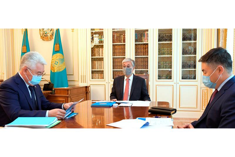 Tokayev briefed on industry and infrastructure dev ministry's activities in 1st half-year