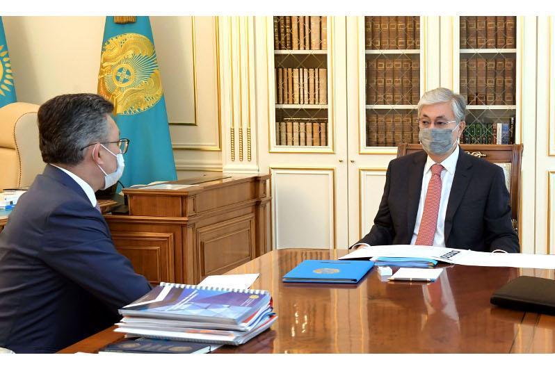 Kassym-Jomart Tokayev receives Trade Minister
