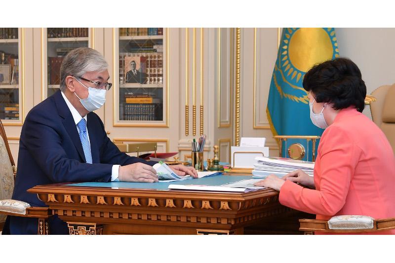 Qazaqstan Prezıdenti Aqtoty Raıymqulovany qabyldady