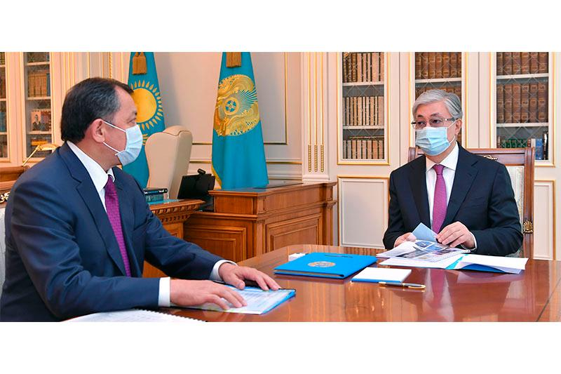 Tokayev briefed on Energy Ministry's activities