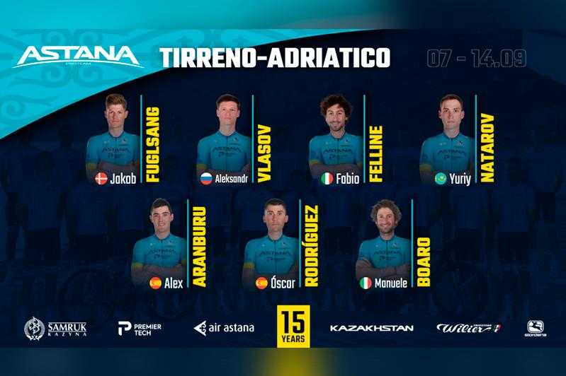 Tirreno-Adriatico 2020. Astana announces its Team's roster