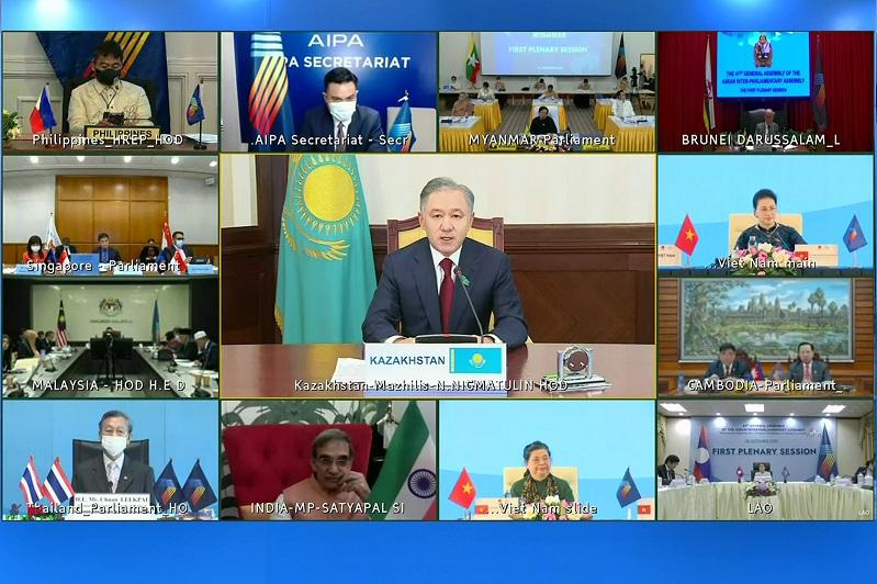 Majilis Speaker participated in ASEAN Inter-Parliamentary Assembly meeting via videoconference