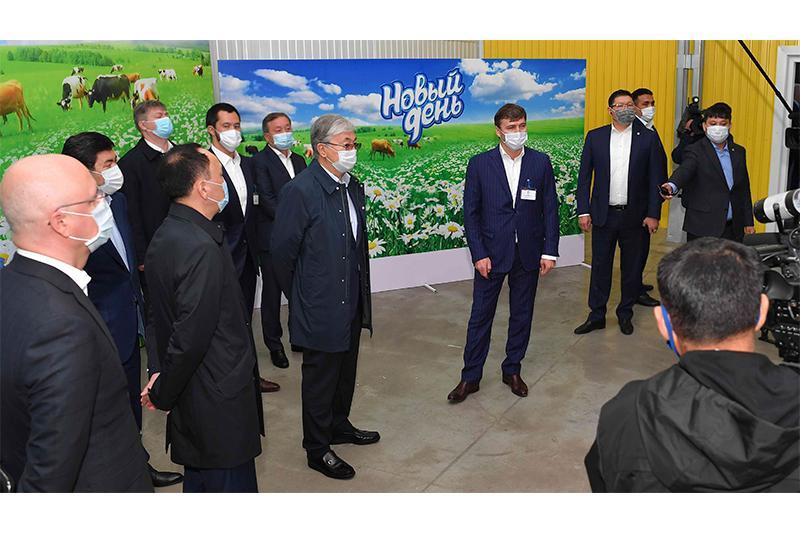 Мемлекет басшысы Қостанай облысындағы «Милх» кәсіпорнына барды