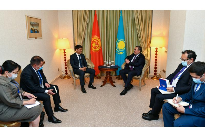 Kazakh FM holds talks with Kyrgyz, Indian counterparts