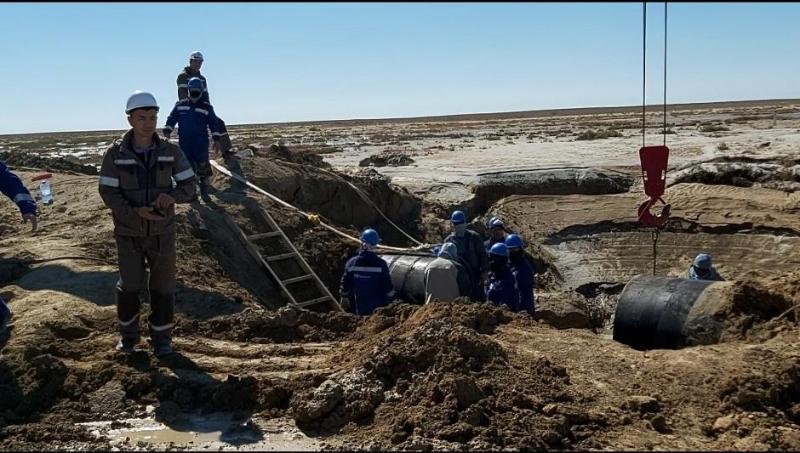 «Астрахан - Маңғыстау» су таратқышында апат болып, бірнеше ауыл сусыз қалды