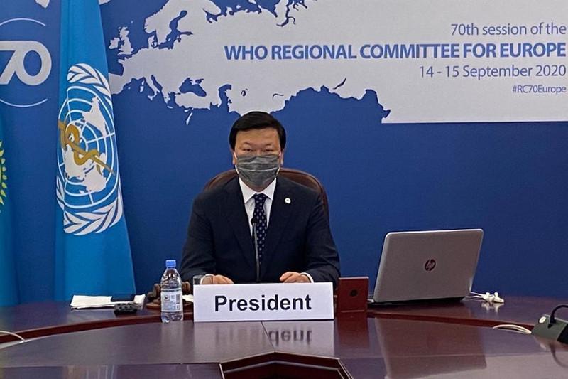 Алексей Цойизбранпредседателем70-й сессии Европейского регионального комитета ВОЗ