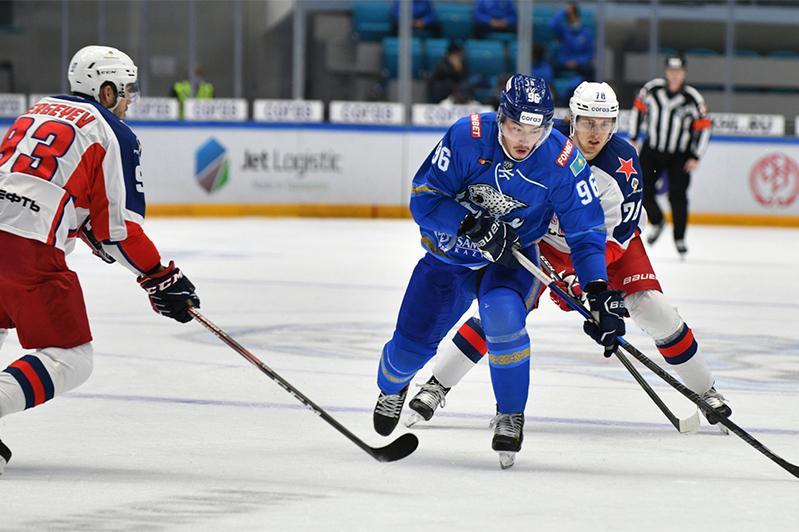 КХЛ: «Барыс» проиграл дома московскому ЦСКА