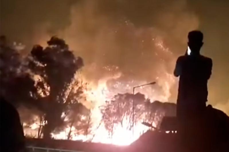 Пожар в лагере беженцев в Греции: арестованы 6 подозреваемых
