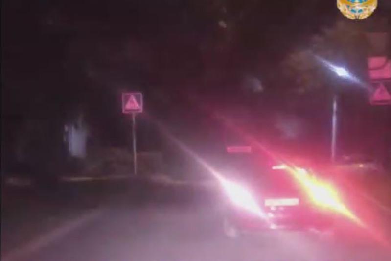 Видео с остросюжетным преследованием автоугонщика показала полиция Усть-Каменогорска