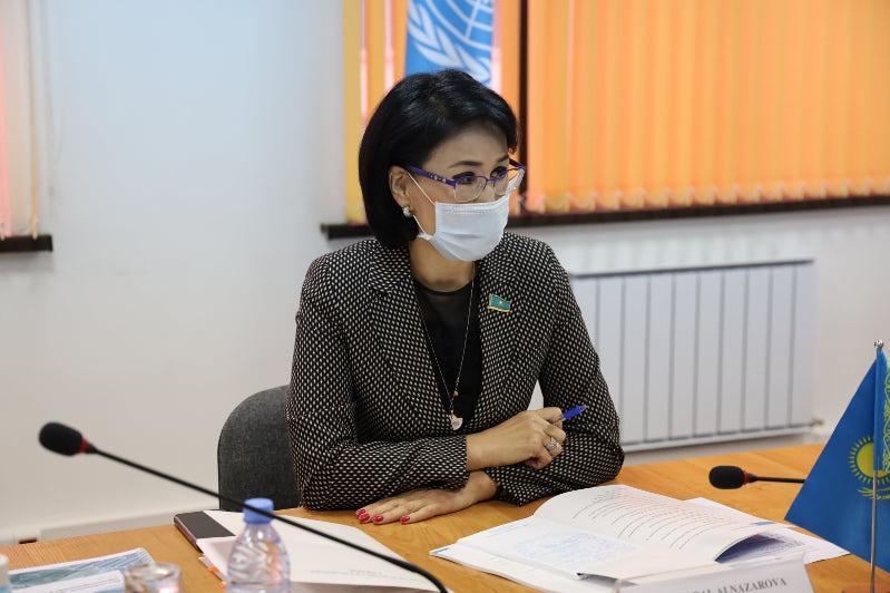 Сенатор Акмарал Альназарова встретилась с представителем ВОЗ